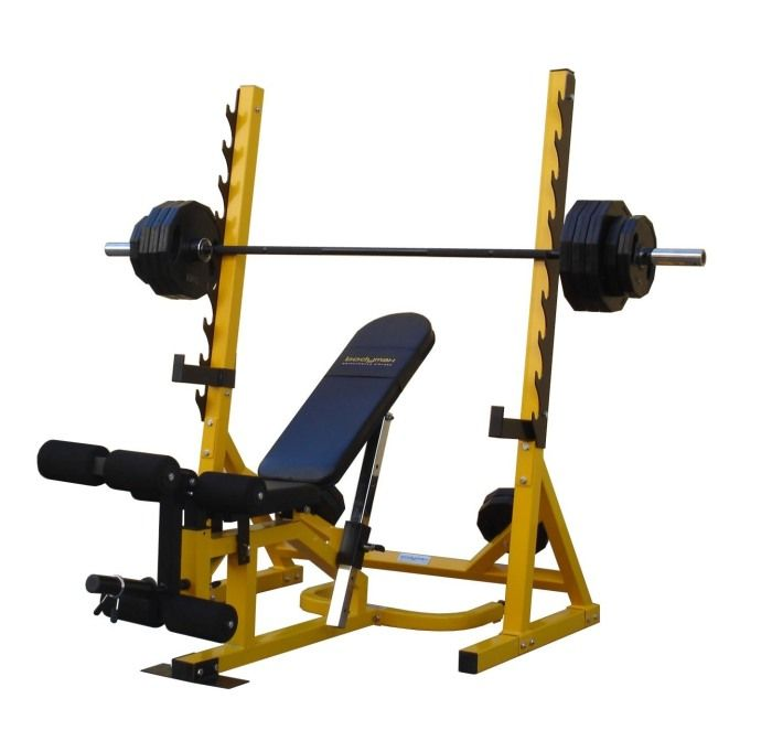 Used Bench Press With Weights Part - 16: Bodymax CF516 Weights Bench ~~~ # Bench Can Be Used Independently For Flat/