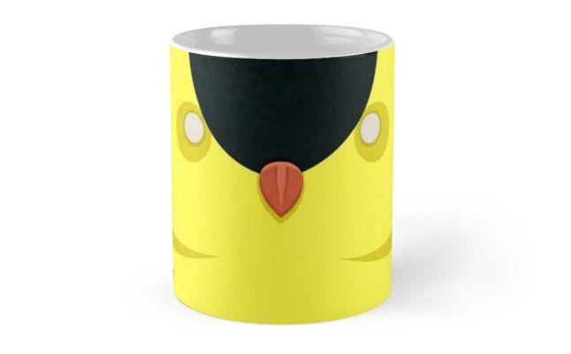Cartoon Finch Mugs by AnMGoug on Redbubble. #mug #finch #bird