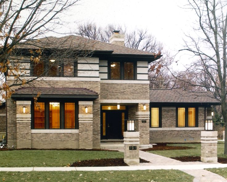 24 best prairie style frank lloyd wright images on for Frank lloyd wright style houses