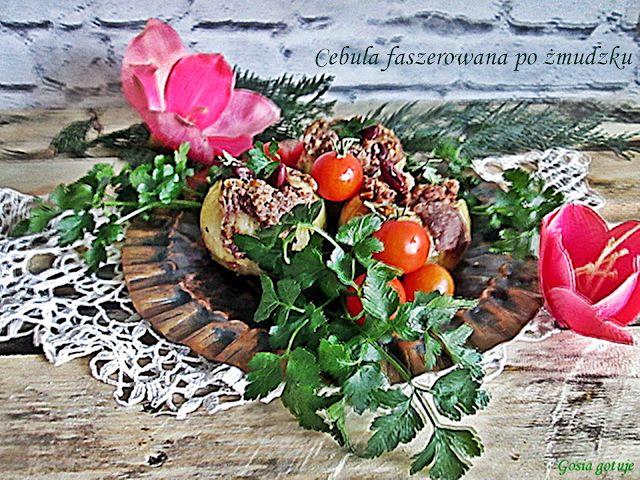 Gosia gotuje: Cebula faszerowana po żmudzku
