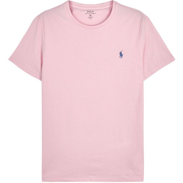 Polo Ralph Lauren Pink Custom Cotton T-shirt - Size XXL (1 545 UAH) ❤ liked on Polyvore featuring men's fashion, men's clothing, men's shirts, men's t-shirts, shirts, men, t-shirts, tops, mens pink t shirt and mens cotton shirts