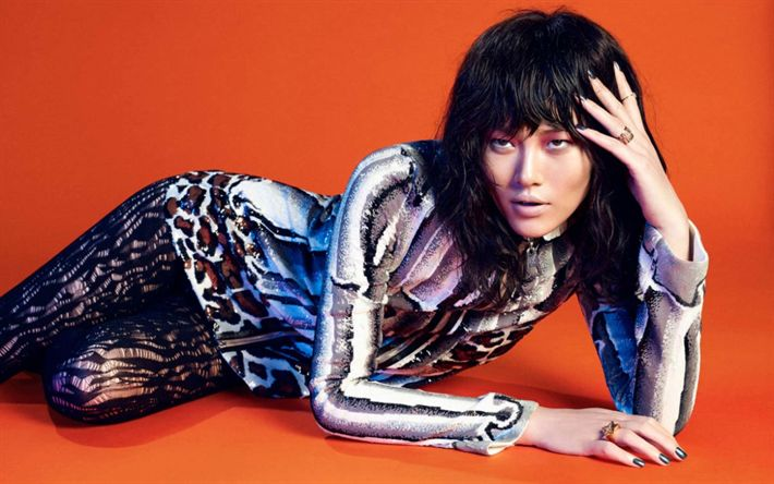 Download wallpapers Liu Wen, chinese supermodels, beauty, brunette, asian girls