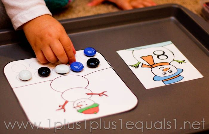 Home Preschool Winter Theme  - 1+1+1=1