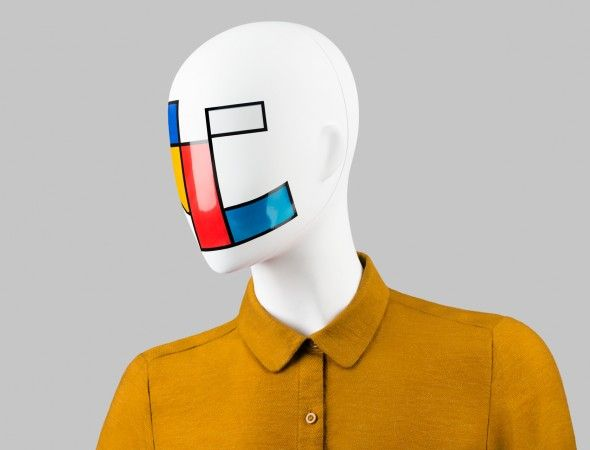 FUSION Collection by More Mannequins #FemaleMannequins #mask #mondrian #geometric #collar