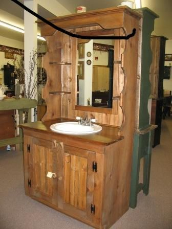 Model Wash Stand Vanity Base CabinetCountry Rustic Primitive Furniture