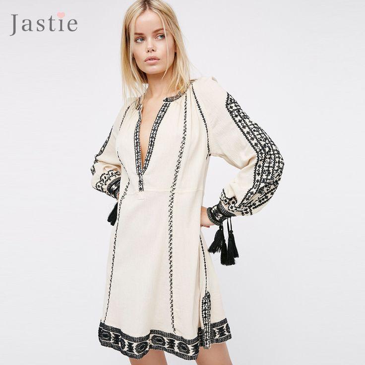 Romantics Magnolia Dress Plus Size Floral Embroidery V-Neck Long Sleeve Boho Mini Dress Vintage Hippie Chic Women