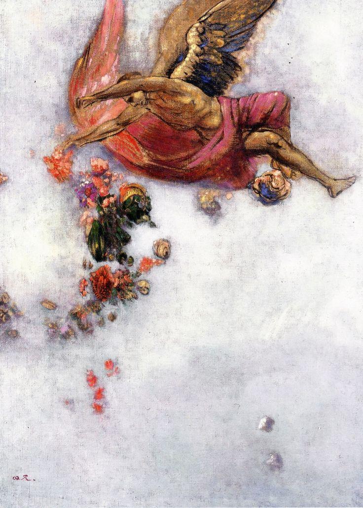 "lilacsinthedooryard: "" Odilon Redon (France, 1840-1916) La Chute d'Icare """