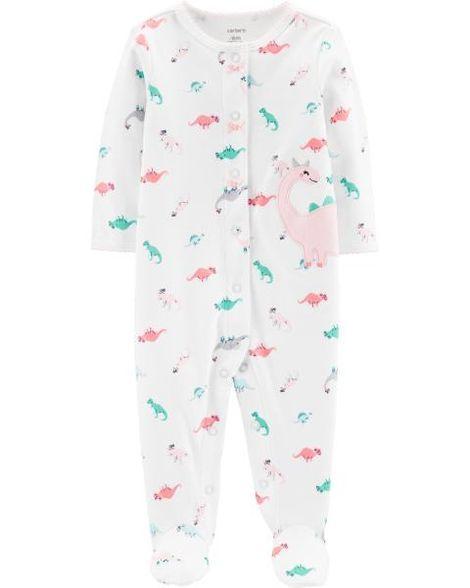 0328f4e1fe65 Dinosaur Snap-Up Cotton Sleep   Play