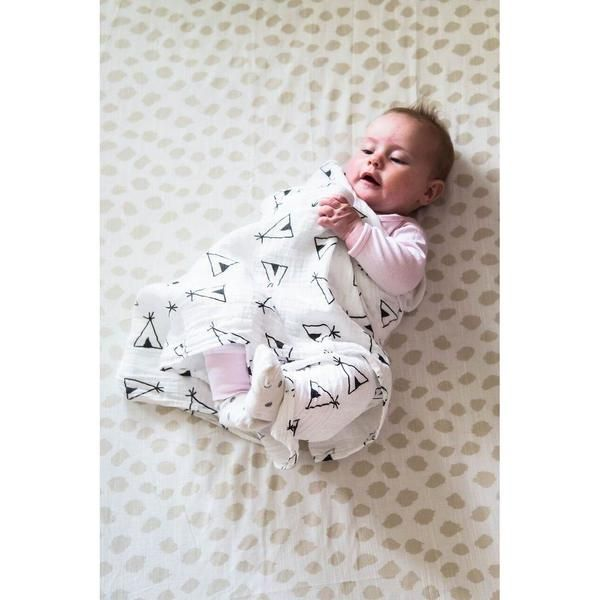 Indi Teepee 100% Cotton Swaddle Blanket for sensitive skin and eczema babies. Siesta Home - baby luno