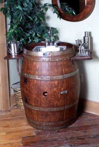Best 25 Wine Barrel Sink Ideas On Pinterest Man Cave