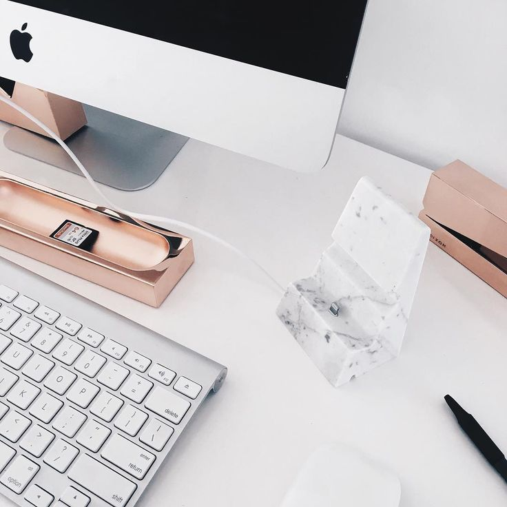"""My love of marble & rose gold has even taken over my desk"""