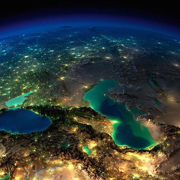 Western Asia, Caspian Sea.