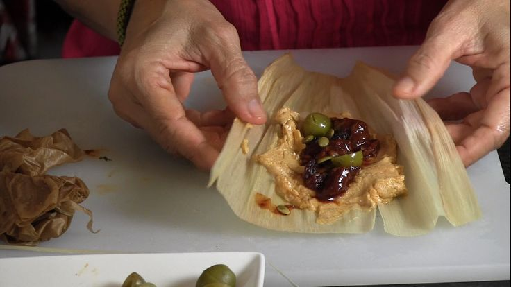 Authentic Pork Tamales in Salsa Roja video from a girl from Sonora, Mexico-Hayko Inukai Pattison