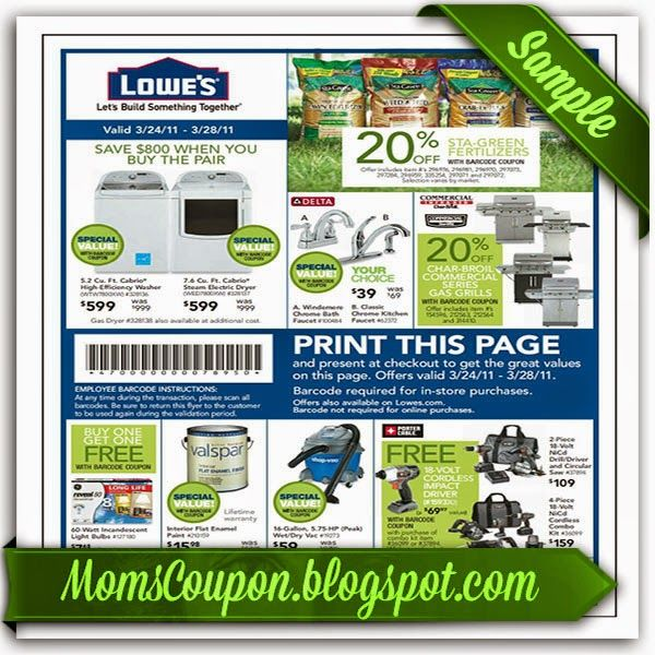 Lowes 10 off coupon code online 2015