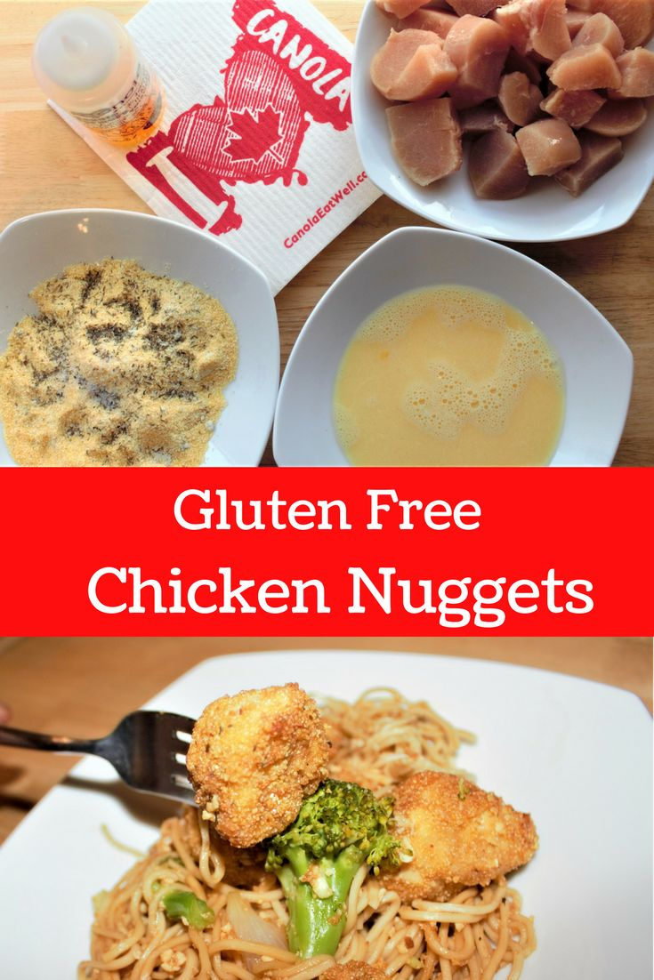 Gluten Free Fried Chicken Nuggets #CanolaConnect #food #cooking #eathealthy #eatwell