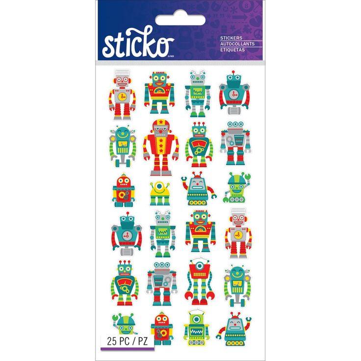 Sticko Stickers-Mini Robots - mini robots