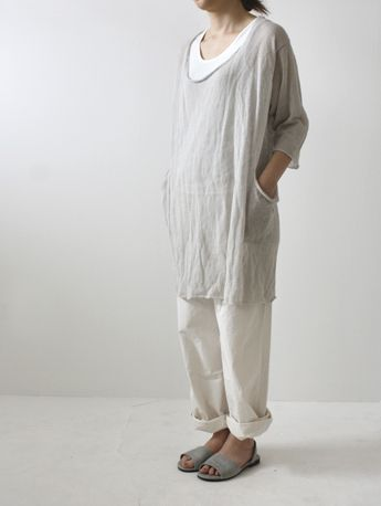 crinkle linen tunic