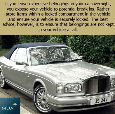 A reason not to leave expensive belongings in your car