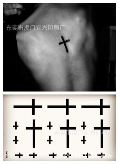 Body Art waterproof temporary tattoos for men and women sexy fashion 3d cross design small tattoo sticker Wholesale  HC1046