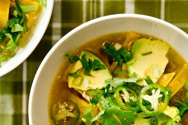 Turkey Soup with Lime and Chili