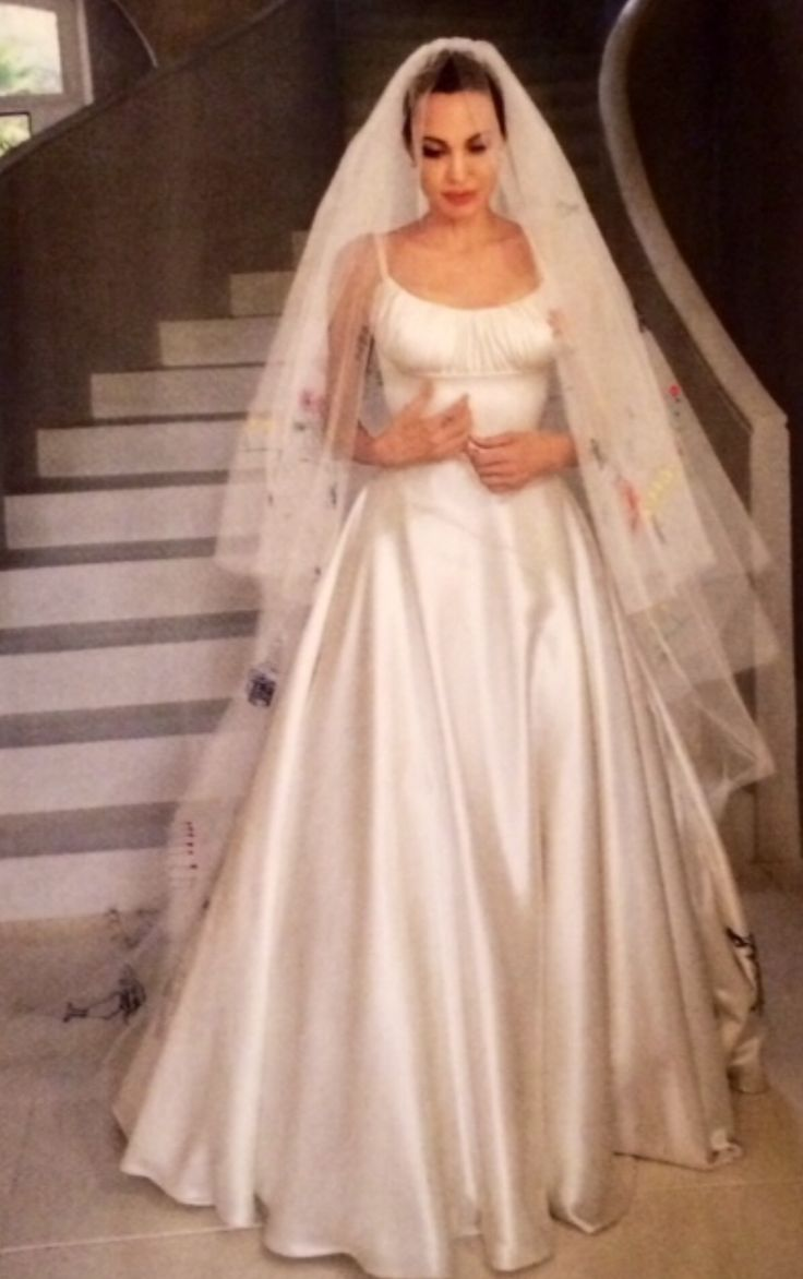 Angelina Jolie on her Wedding Day / via People Magazine