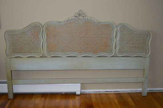French Louis Xv Style King Size Headboard W Cane By