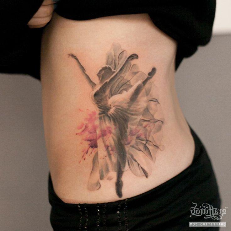 Ballerina Tattoo By Graffittoo - http://tattooideas22.com/ballerina-tattoo-graffittoo/