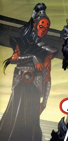 Darth Maladi: Born Malincha, was a Force-sensitive Devaronian female who was taken by the Sith from her homeworld of Devaron following the death of her Jedi father at the hands of Dark Lord of the Sith Darth Krayt. She was trained in the dark side and became a prominent Sith Lady in Krayt's One Sith Order. Maladi specialized in the ways of inquisition, torture, and mental manipulation, all skills which she implemented in her service as the head of Sith Intelligence and Assassination.