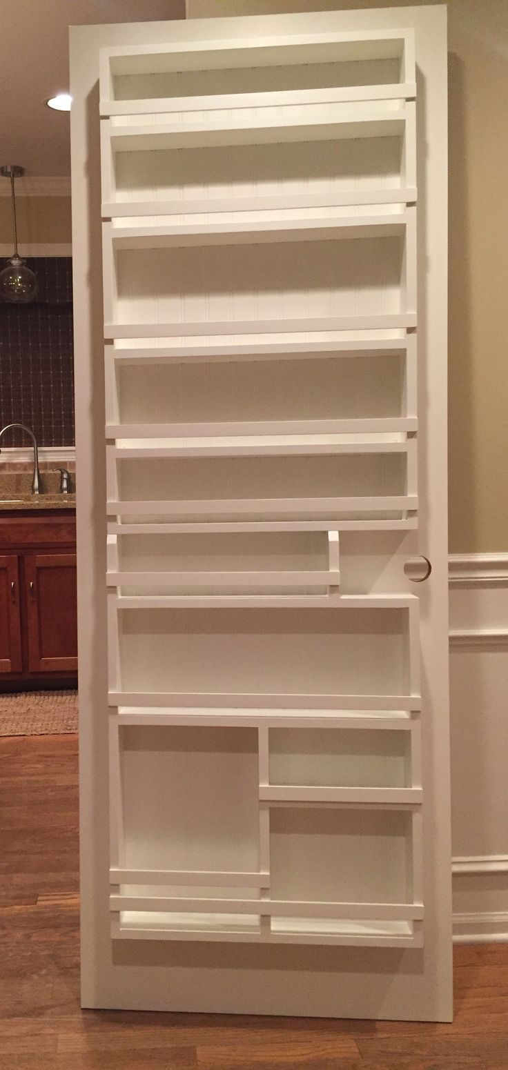 Diy Pantry Door Spice Rack Storage In 2019 Pantry Door