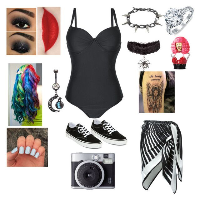 """Swimsuit Photoshoot"" by raven-ranger on Polyvore featuring La Perla, Vans, Joomi Lim, Bling Jewelry and Nicki Minaj"