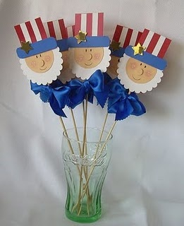 Uncle Sam...you could use these many ways....cupcakes, drinks, with flowers as centerpieces, etc;