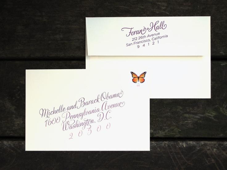 Wedding Invitation Outer Envelope: Custom Wine Harvest Wedding Invitation: Outer Envelope