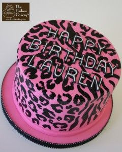 zebra cheetah pink birthday cake copy
