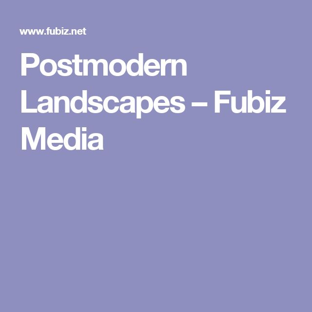 Postmodern Landscapes – Fubiz Media