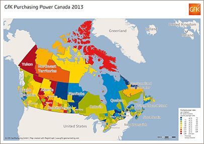 GfK Purchasing Power, Canada 2013 - GfK GeoMarketing