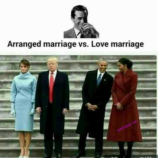 Funny Memes About Arranged Marriage vs. Love Marriage ft Donald Trump And Barack Obama
