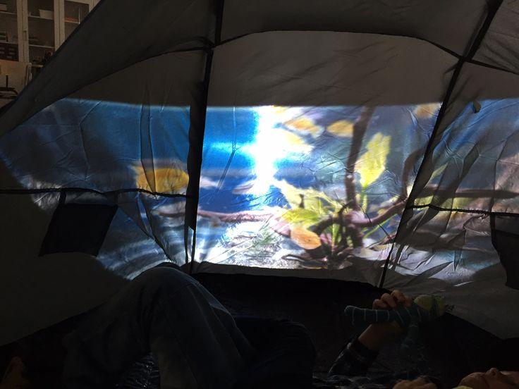 Nu har jag äntligen fått genomföra en digital miljö på skolan! Jag såg en film på Facebook där en förskola har bytt tyg på ett tält och bakom tältet hade de satt en projektor. Där projicerade...