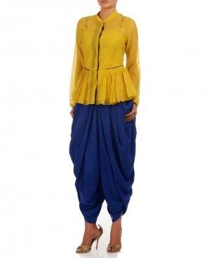 Royal Blue Dhoti Pants
