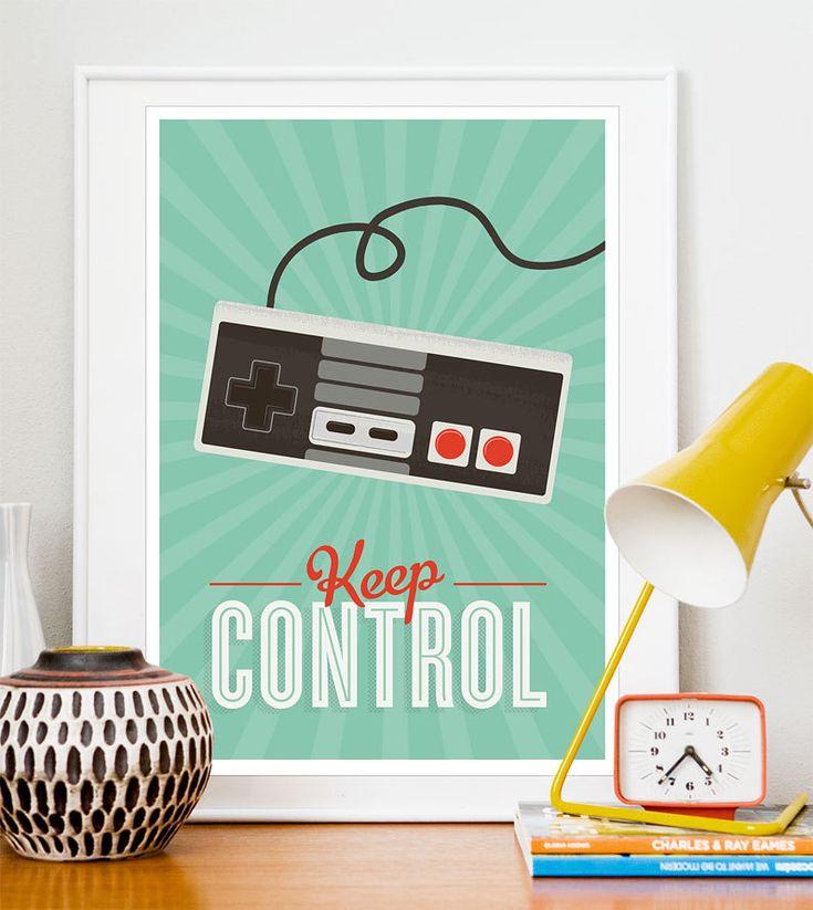 Retro poster Videogame Art print positive quote Print by handz. $21.00, via Etsy.