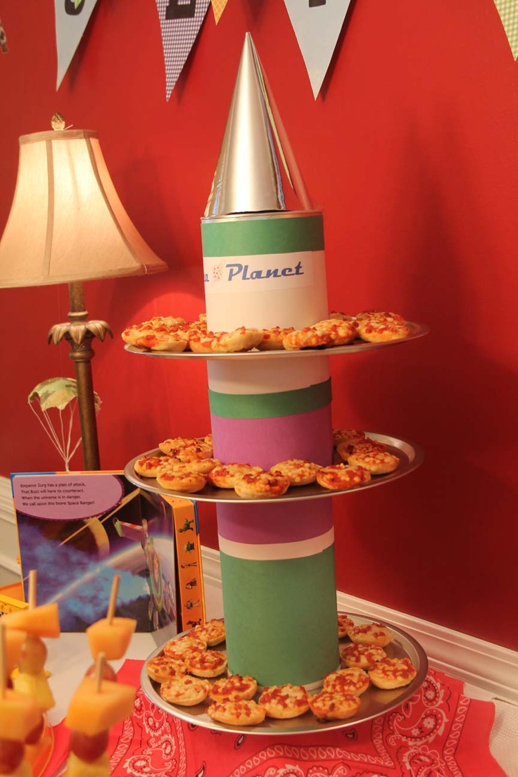 Toy story Pizza Planet rocket ship- Pizza Bagles