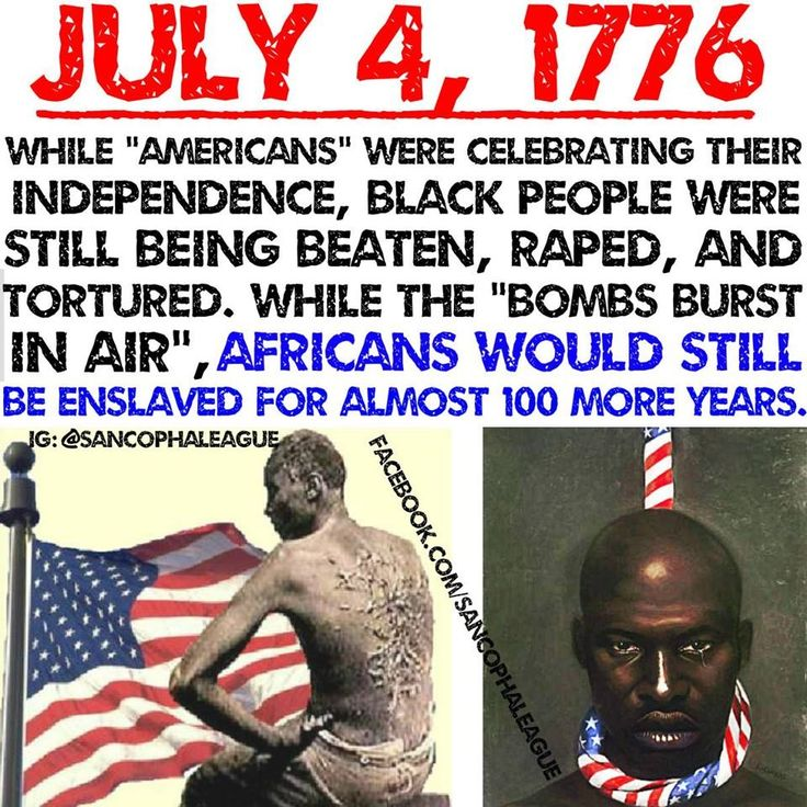 "#sancophaleaguethrowback Independence Day is a Widely Celebrated National Holiday here in America, ""Land of the Free"". I laugh every time I hear the phrase. Every year millions of Black People spend billions of dollars celebrating July 4th, America's..."