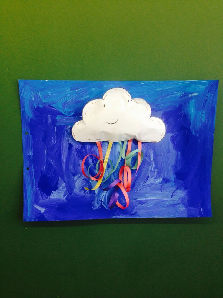 Tapa álbum nube con lluvia. Divertida y original portada trabajo escolar