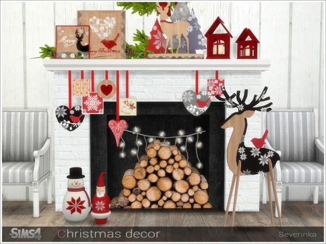 Christmas decor at Sims by Severinka • Sims 4 Updates