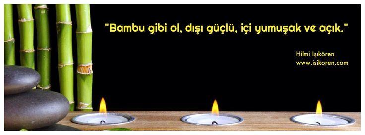 """""""Bambu gibi ol, dışı güçlü, içi yumuşak ve açık""""  Hilmi Işıkören http://www.isikoren.com/bambu/  #motivasyon #başarı #hayat"""