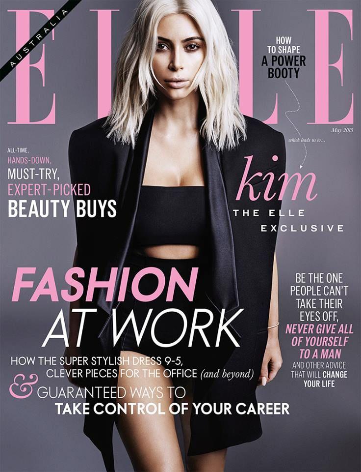 Kim Kardashian (2015.05. Elle)
