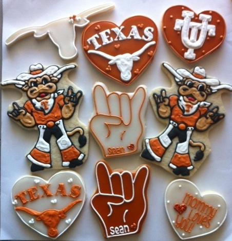 University of Texas Cookies!! Hook Em'!