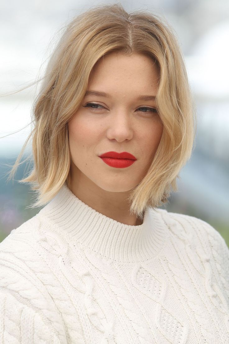 Lea Seydoux. Love the hair