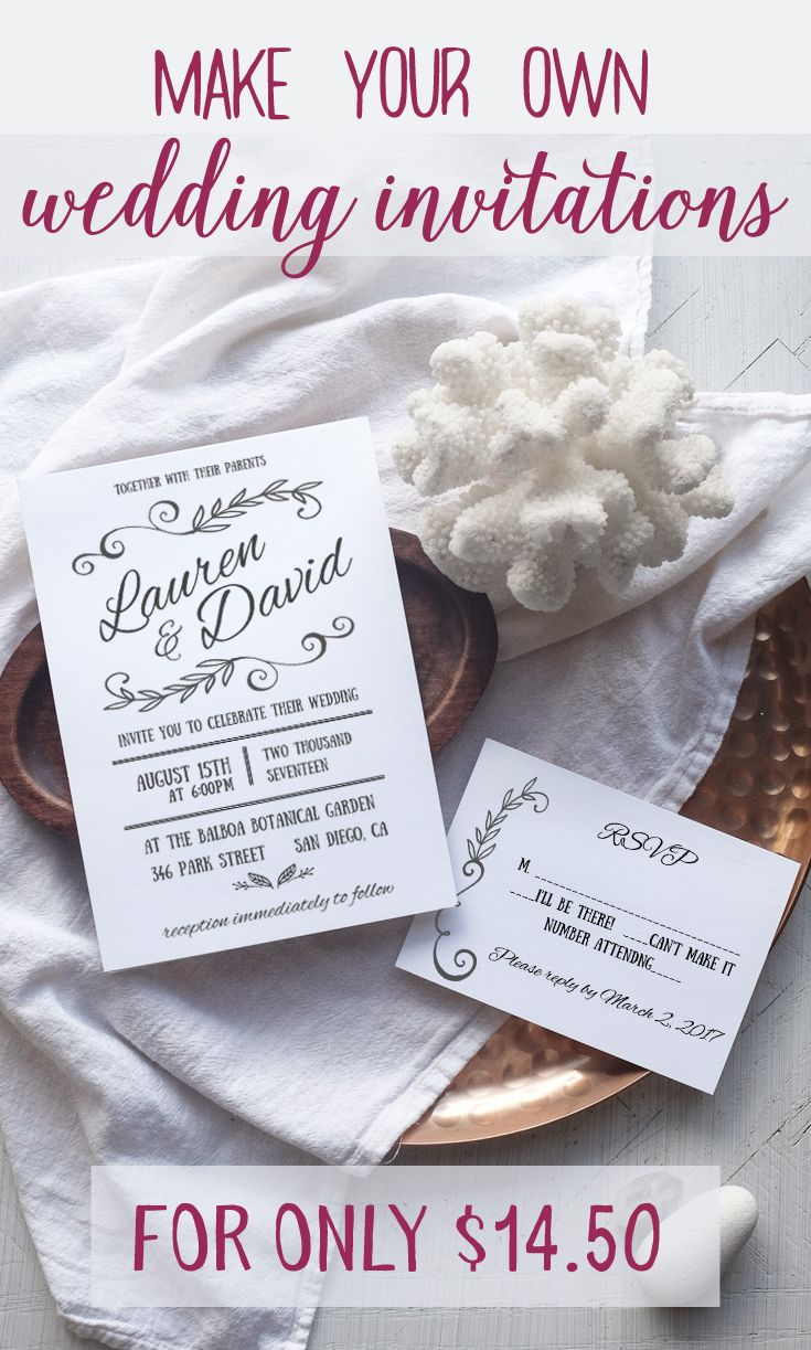 Blog worthy wedding invitations that you can make