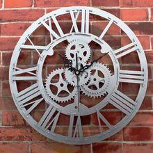 Wall Clock Saat Gear Clock Reloj Relogio de Parede Duvar Saati Horloge Murale reloj de pared Rivet Metal Clocks Home Decoration(China (Mainland))