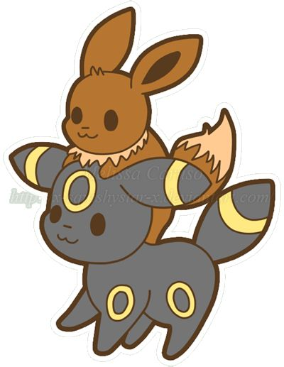 Squishy Pokemon Evolution : Squishy Eevee and Umbreon :3 by x-SquishyStar-x pokemon Pinterest Pokemon, Eevee ...